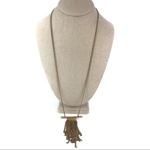 Jewelry - Gold-Tone Long Tassel Necklace